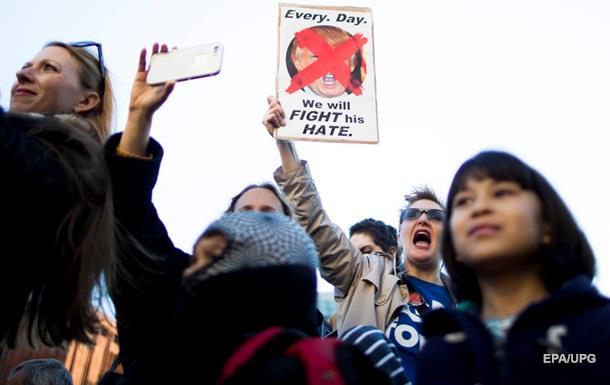 В США третий день подряд протесты против Трампа
