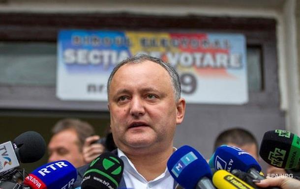 На выборах в Молдове лидирует социалист Додон