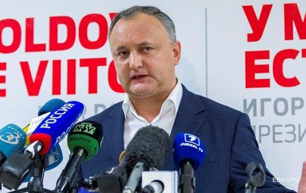 Додон объявил о своей победе на выборах в Молдове