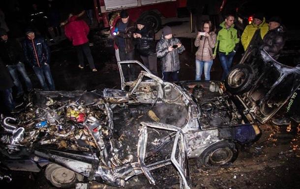 В Житомире после заправки взорвался автомобиль