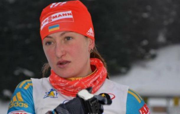 Биатлонистка сборной Украины Абрамова дисквалифицирована наодин год