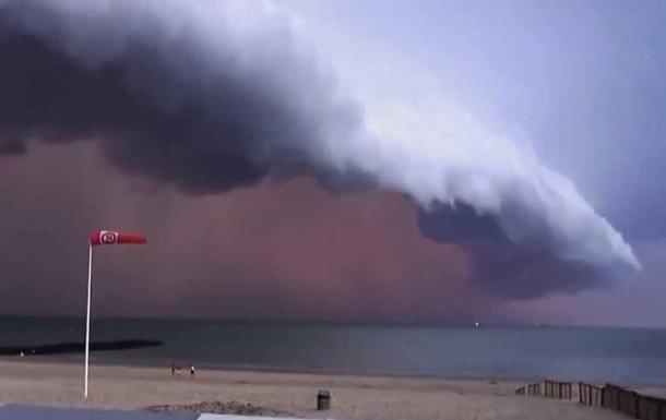 Бельгию накрыл ураганный ветер