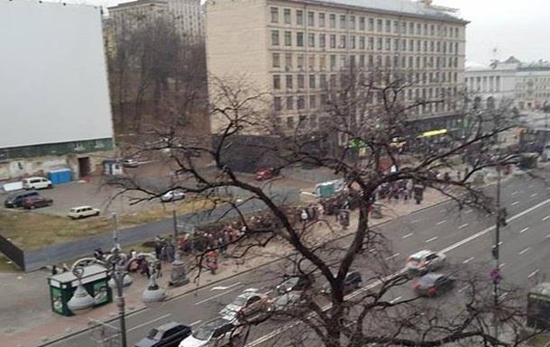 В центре Киева собираются митингующие
