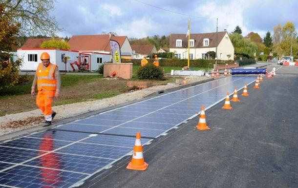 Французы заменят асфальт на дорогах солнечными батареями