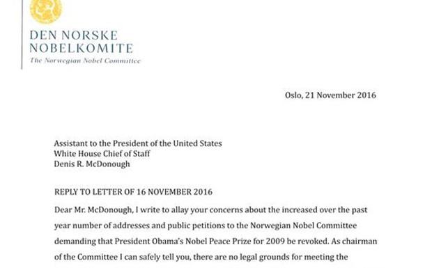 Нобелевский комитет причастен к преступлениям Обамы!