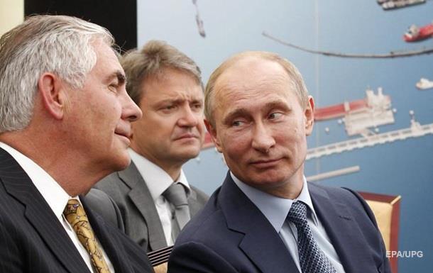 Еще один друг Путина. Глава Exxon как госсекретарь