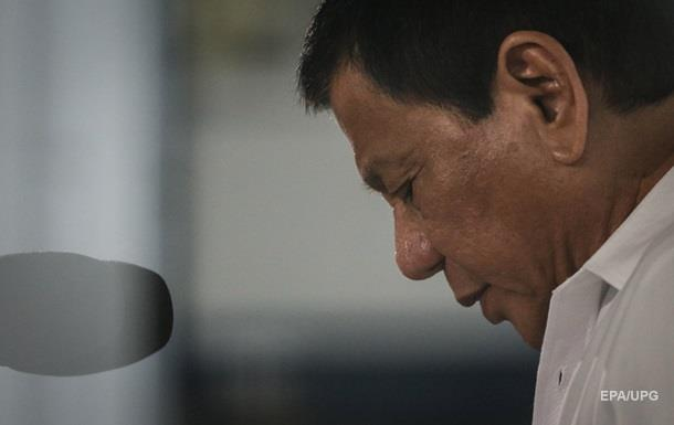 Президент Филиппин признался вуличных убийствах злоумышленников