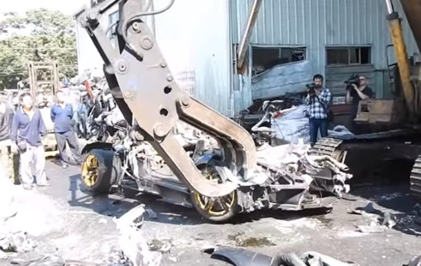 Публічну страту  Lamborghini зняли на відео