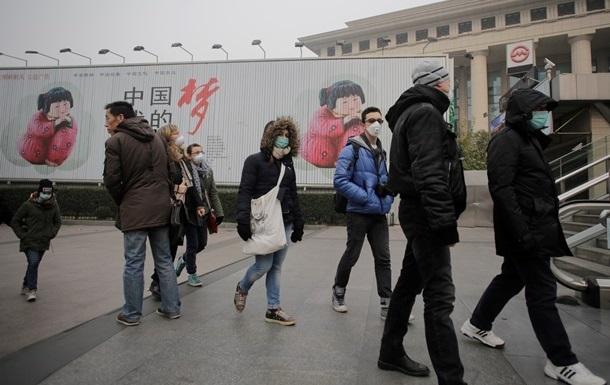 Над 24 городами Китайская народная республика навис сумел: красный уровень загрязнения воздуха