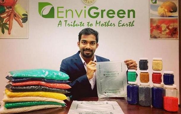 В Индии начали выпуск съедобных пакетов