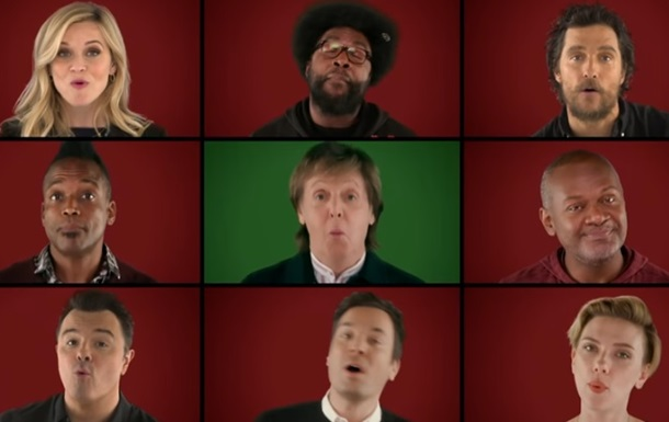Маккартні заспівав різдвяну пісню із зірками кіно