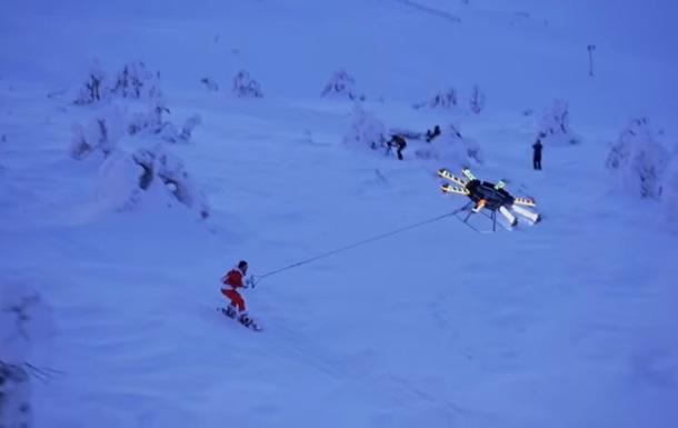 Энтузиаст создал дрон для сноубординга