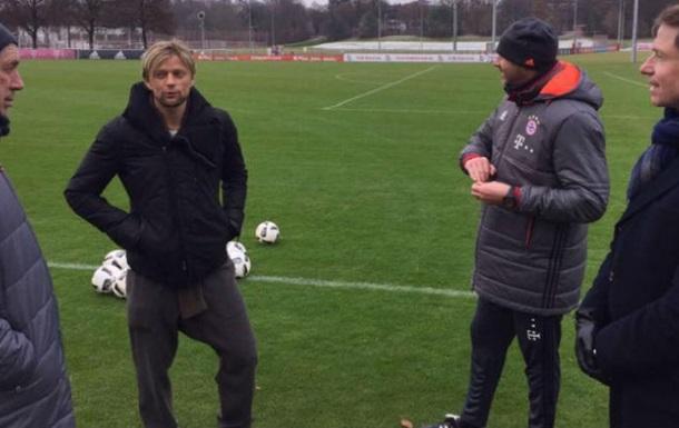 Тимощук иКононов посетили тренировку Баварии