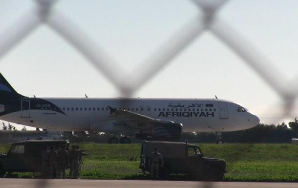 Захват ливийского самолета A320