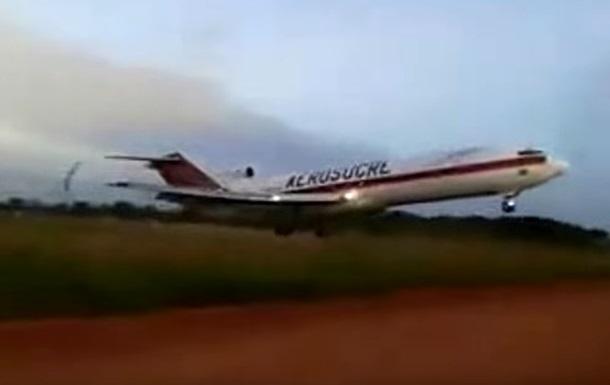 В сети появилось видео крушения Boeing-727 в Колумбии