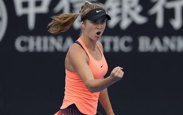 Теннисистка Э.Свитолина одолела первую ракетку мира А.Кербер