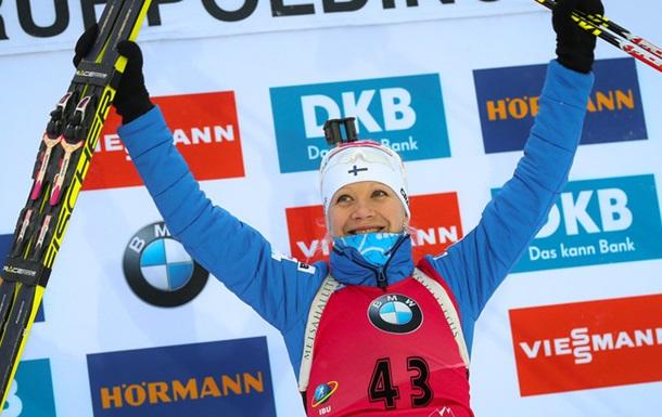 Кайса Мякяряйнен выиграла спринтерскую гонку наэтапеКМ побиатлону