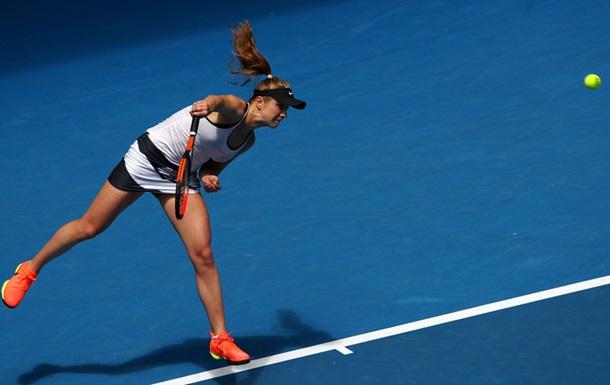 Лучшая теннисистка Украины удачно стартовала наодном из основных турниров года