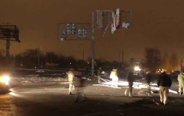 В сети показали видео взрыва в Донецке