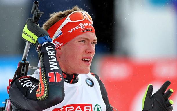 Германец Долль вспринте одержал победу золото чемпионата мира— Биатлон