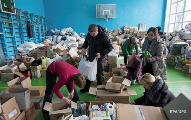 ВАвдеевке сообщили опереизбытке гуманитарных продуктов иодежды