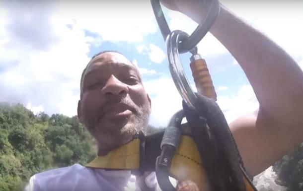 Уилл Смит прыгнул со100-метрового водопада вАфрике