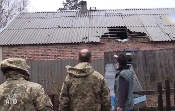 Військові показали обстріляні будинки в Авдіївці