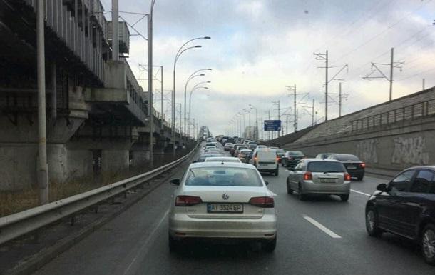В Киеве  намертво  встали Южный и Дарницкий мосты