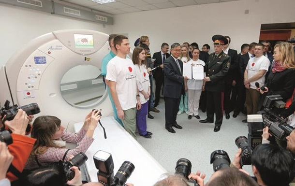 Японський уряд передав українським військовим сучасний томограф ToshibaРегіони