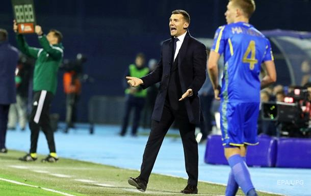 Украина проиграла Хорватии