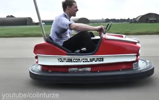 Стиг изTop Gear установил рекорд скорости нааттракционной бамперной машине