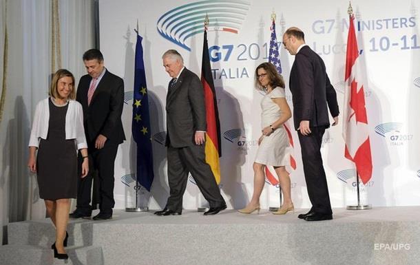 G7 не договорились о новых санкциях против России