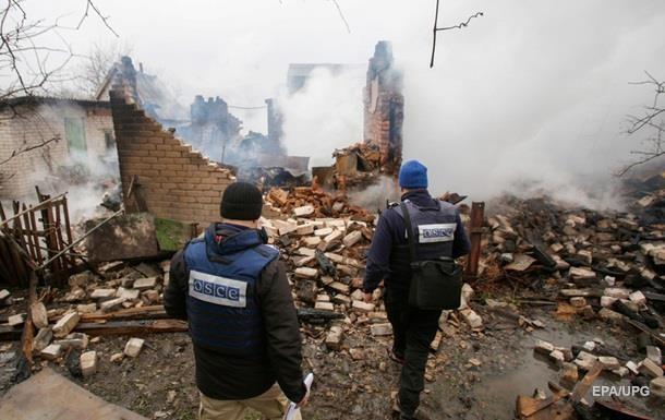 Обстрелы на Донбассе: ОБСЕ насчитала 250 взрывов