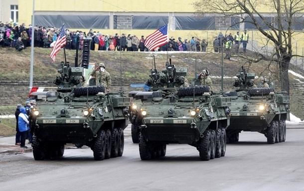 НАТО «играет мускулами» вЛатвии навоенных учениях