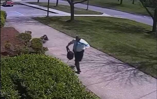 Агрессивный гусь атаковал полицейского офицера