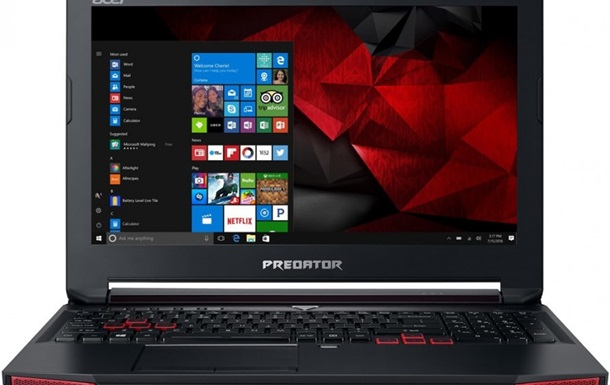 Acer выпустила игровой ноутбук Predator Triton 700