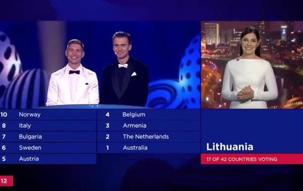 Литва в эфире Евровидения: Слава Украине!