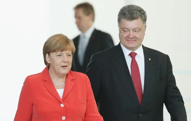 Порошенко встретится завтра с Меркель