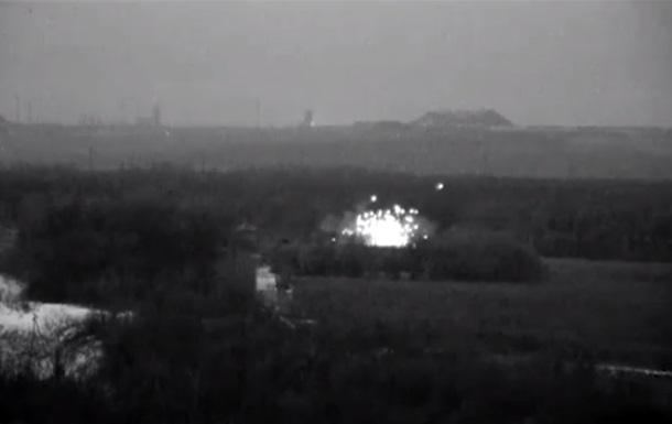 Военные показали ночной бой на Светлодарской дуге