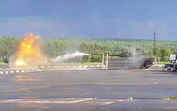 В России показали стрельбу танка Армата