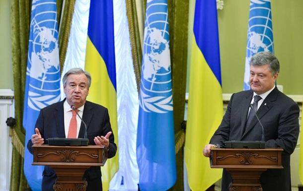 Гройсман предложил генеральному секретарю ООН увеличить размеры гумпомощи Украине