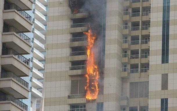 В Дубае вновь загорелся небоскреб
