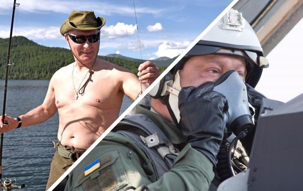 Полет Порошенко сравнили в РФ с рыбалкой Путина