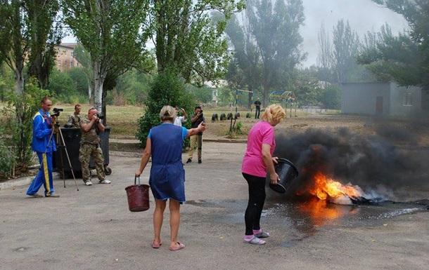 В Славянске протестуют против учителя, осужденного за сепаратизм