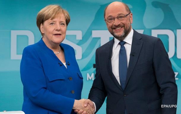 Меркель перемогла в теледебатах Шульца