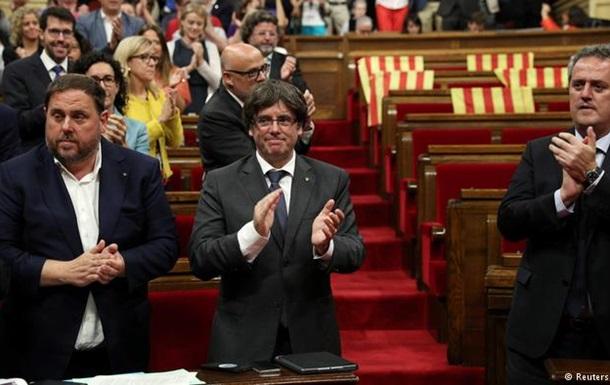 Парламент Каталонії схвалив проведення референдуму про незалежність