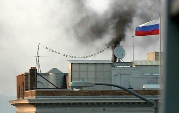 США оштрафують консульство Росії вСан-Франциско зачорний дим