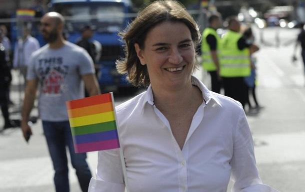 Відкрита лесбіянка— прем'єр Сербії брала участь умарші ЛГБТ