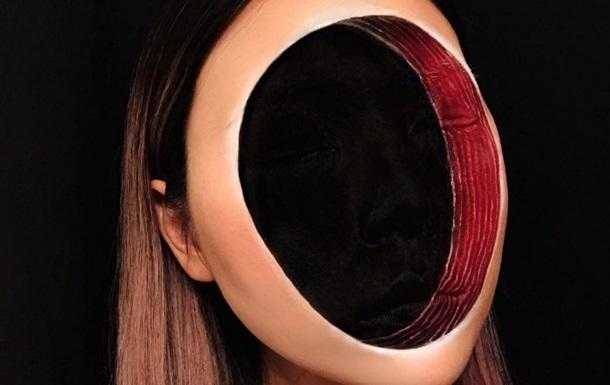 В Сети показали макияж  без лица  в стиле Дали