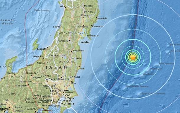 Квостоку отЯпонии вокеане произошло землетрясение магнитудой 6